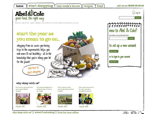 Abelcole in 35 Beautiful E-Commerce Websites