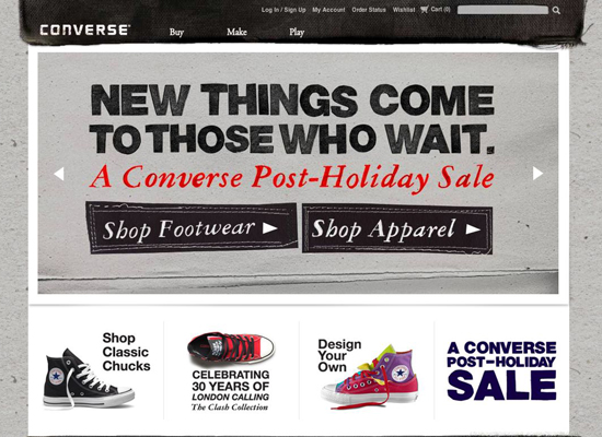 Converse in 35 Beautiful E-Commerce Websites