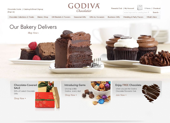 Godiva in 35 Beautiful E-Commerce Websites