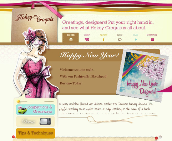 Hokey-croquis in 35 Beautiful E-Commerce Websites