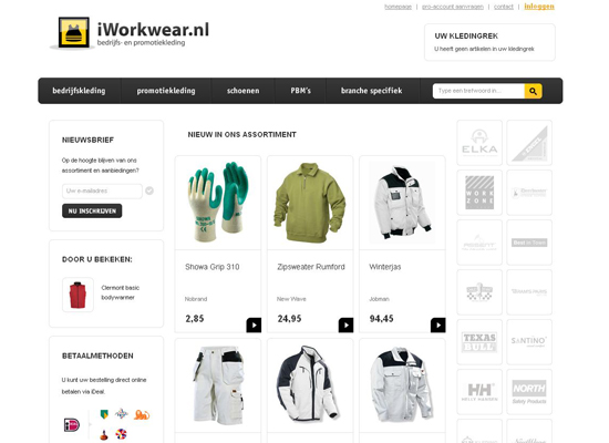 Iworkwear Nl in 35 Beautiful E-Commerce Websites