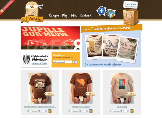 Lapatate in 35 Beautiful E-Commerce Websites