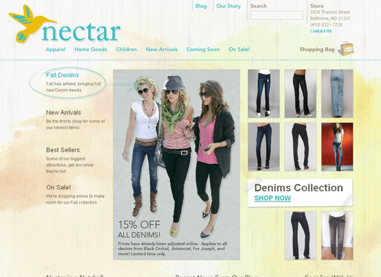 Nectar in 35 Beautiful E-Commerce Websites