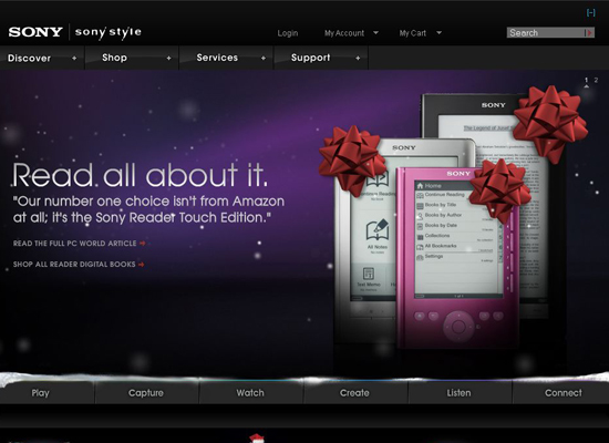 Sony-style in 35 Beautiful E-Commerce Websites