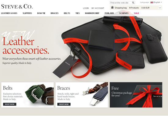 Steveco in 35 Beautiful E-Commerce Websites