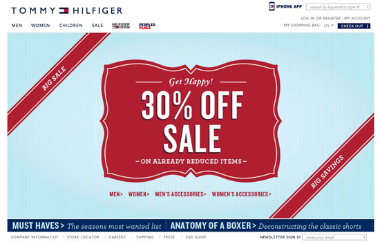 Tommy-hilfiger in 35 Beautiful E-Commerce Websites