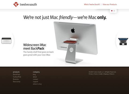 Twelve-south in 35 Beautiful E-Commerce Websites