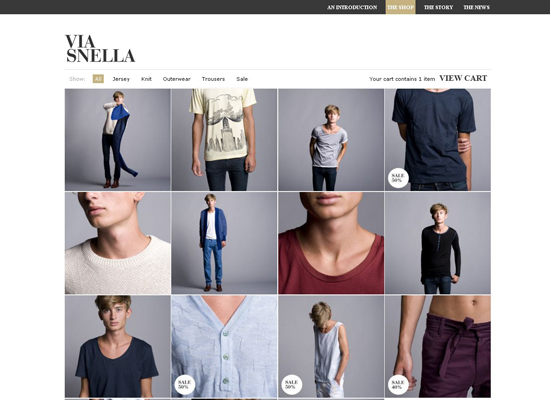 Via-snella in 35 Beautiful E-Commerce Websites