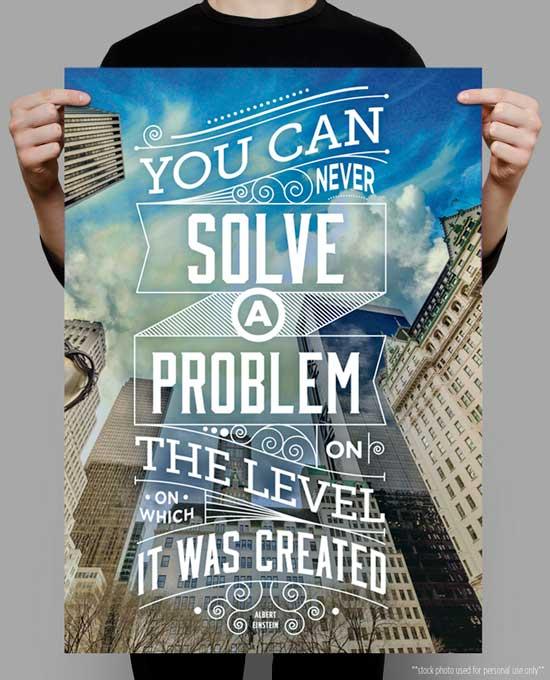 Typography-Poster-Einstein