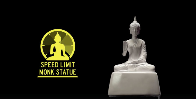 speed limit monk statue
