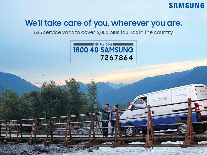 Với biệt đội 535 xe tải chuyên thực hiện dịch vụ chăm sóc sau bán hàng, Samsung sẽ hỗ trợ bạn tối đa, dù bạn ở bất cứ đâu.